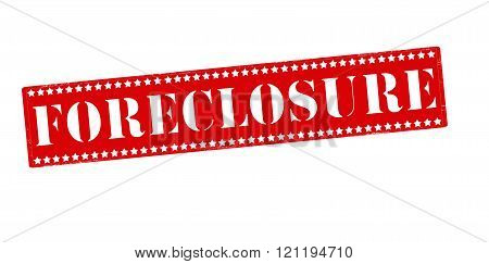 Rubber stamp with word foreclosure inside vector illustration