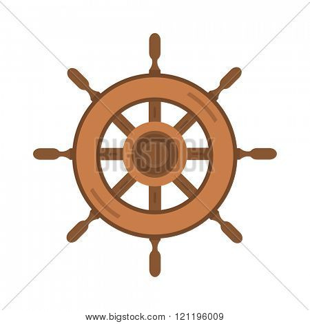 Yacht wheel vector illustration. Yacht wheel isolated on white background. Yacht wheel vector icon illustration. Yacht wheel isolated vector. Yacht wheel silhouette