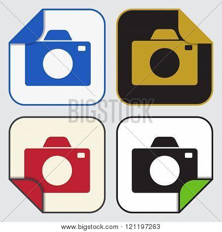 Four Square Sticky Icons - Camera