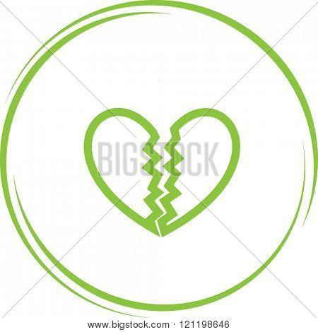 unrequited love. Internet button. Raster icon.