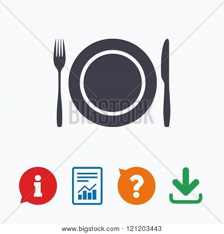 Plate dish with fork and knife.