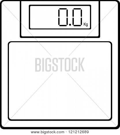 digital bathroom scale with kilograms indicator