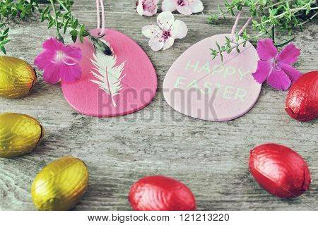 Happy easter. Easter egs.  Backgraund card. Pascua