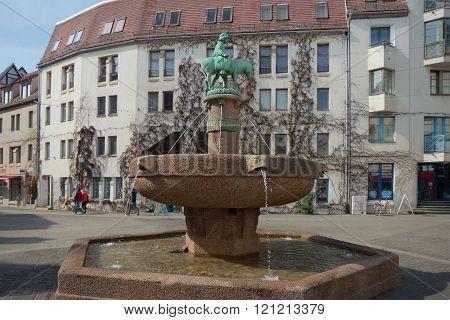 Donkey's Fountain, Halle (Saale), Germany