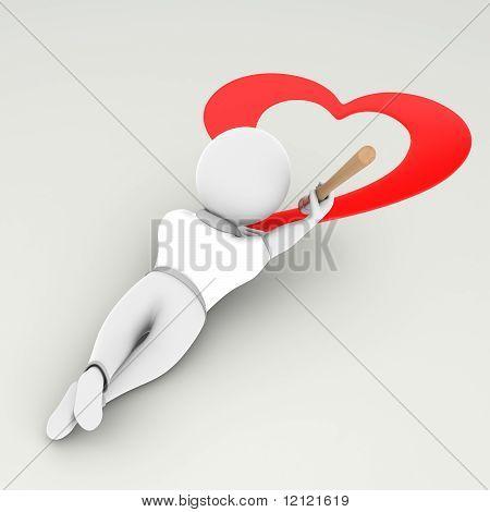 Guy Draws A Heart