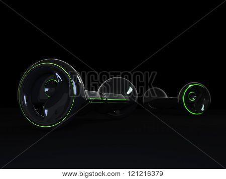 Black color hoverboard