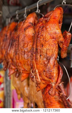 Roasted Duck On The Markets.