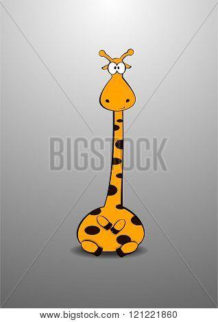 Stock Illustration of cartoon cute giraffe
