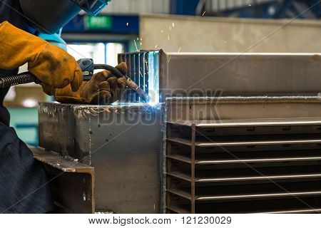 Gas metal arc welding (especially metal inert gas or MIG welding) poster