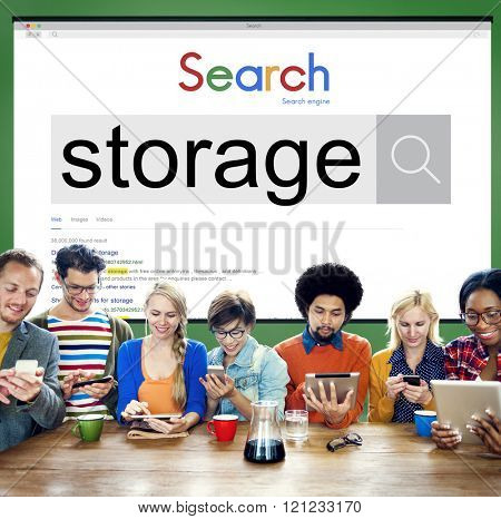 Storage Data Information Technology Security Concept