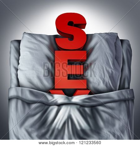 Sex In Bed Symbol