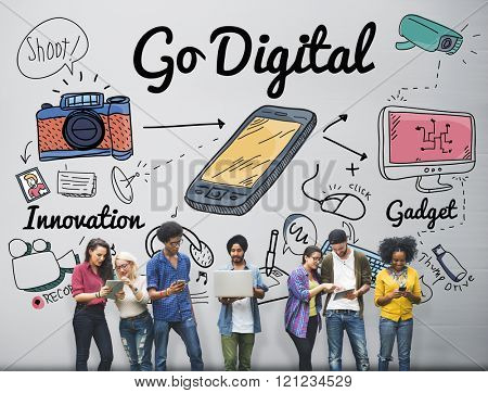 Go Digital Electronic Information Technology Internet Concept