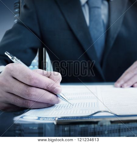 Businessman Working Planning Strategy Vision Concept