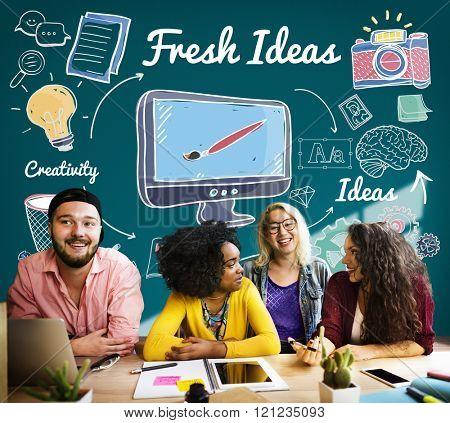 Fresh Ideas Innovation Suggestion Tactics Concept