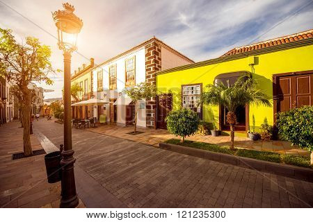 Street view in Los Llanos city on La Palma island