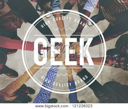 Geek Intellectual Nerd Socially Awkward Concept