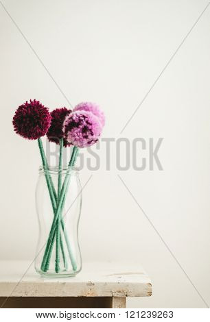 Pom Pom Flowers Bouquet