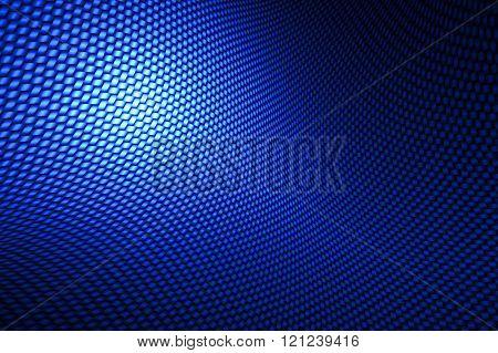 Blue Curve Carbon Fiber