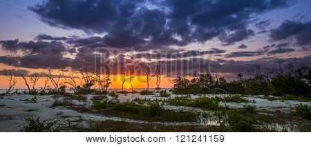 Sunset At Lover's Key Beach Florida
