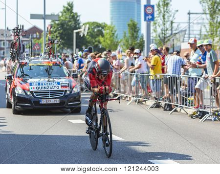 The Cyclist Manuel Quinziato - Tour De France 2015