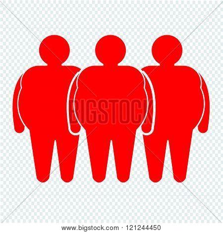 Fat People Icon Illustration Design