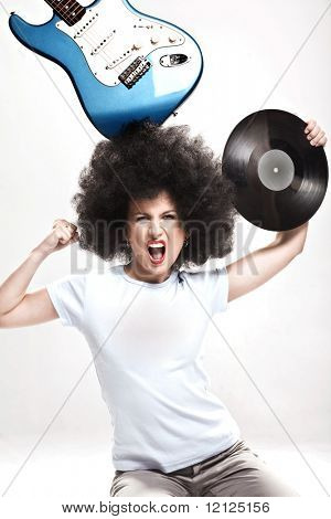 Mad rock-n-roll girl