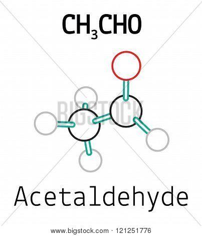 CH3CHO acetaldehyde molecule