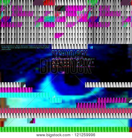 vector glitch screen