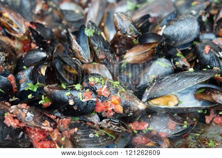 Mussels with shell