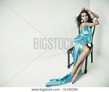 Stunning brunette posing