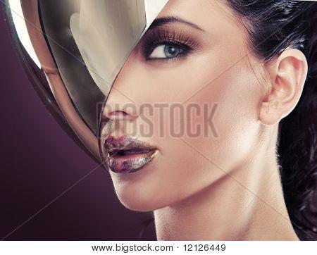 modern style portrait of a beautiful lady
