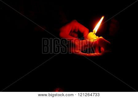 Candle holding