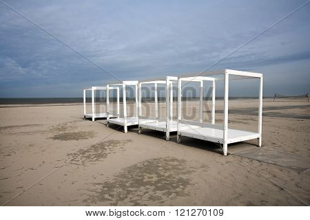 White Frames On The Beach