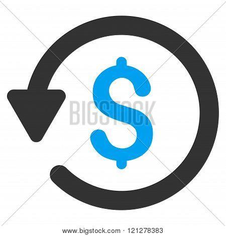 Rebate Flat Glyph Icon