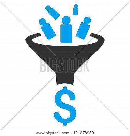 Sales Funnel Flat Glyph Icon