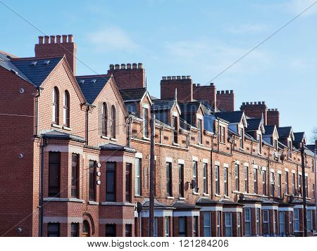 The Roof and chimneys in Belfast (UK)