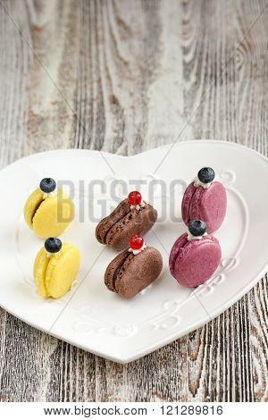 French Macarons. Meringue