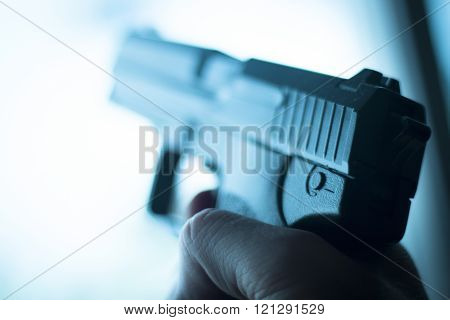 Automatic 9Mm Pistol Handgun Weapon