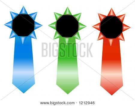 Rgb Rosettes - Winner Ribbon