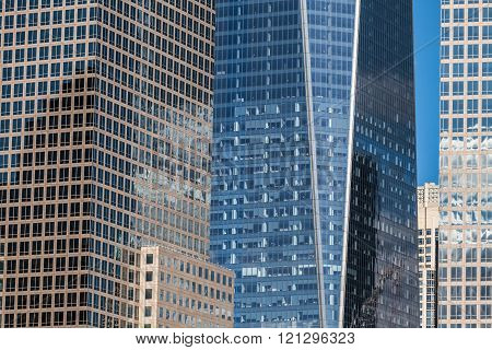 Office Buildings And Skyscrapers Detail In New York City