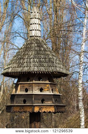 Old wooden dovecote.