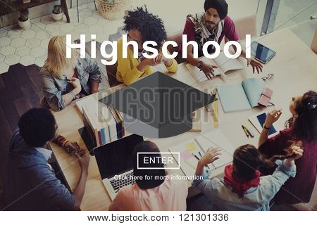 Highschool Education Learning Knowledge Research Concept