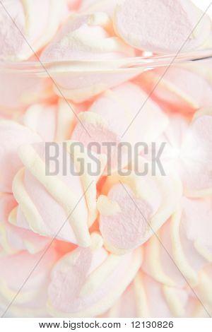 Pastel food background - pink pastila