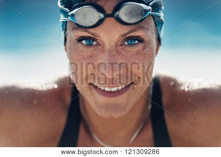 Beautiful Female Swimmer