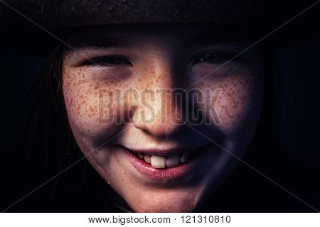 Portrait of a Young Girl With Hat
