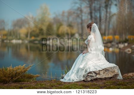 Bride On The Lake Shore