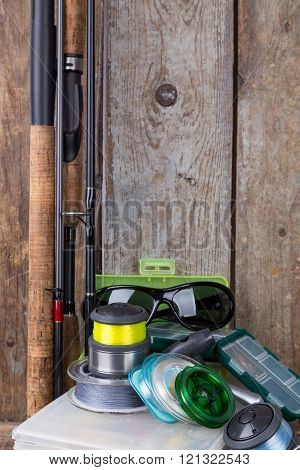 Fishing Tackles, Lures And Baits In Boxes