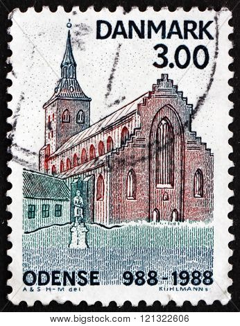 Postage Stamp Denmark 1988 St. Cnut's Church
