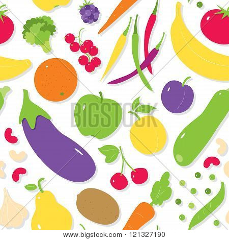 fruit and vegetables pattern