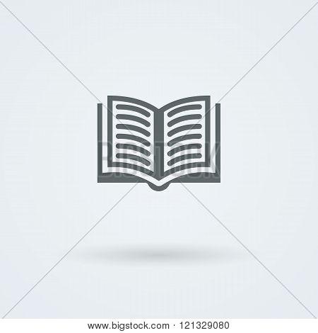Simple vector open book icon.